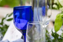Blue Goblet Tablescape