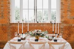Minley Manor Venue-  Black, Gold,& Blush Tablescape