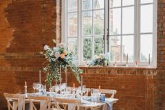Minley Manor Venue- Wellingtonia Blue Tablescape