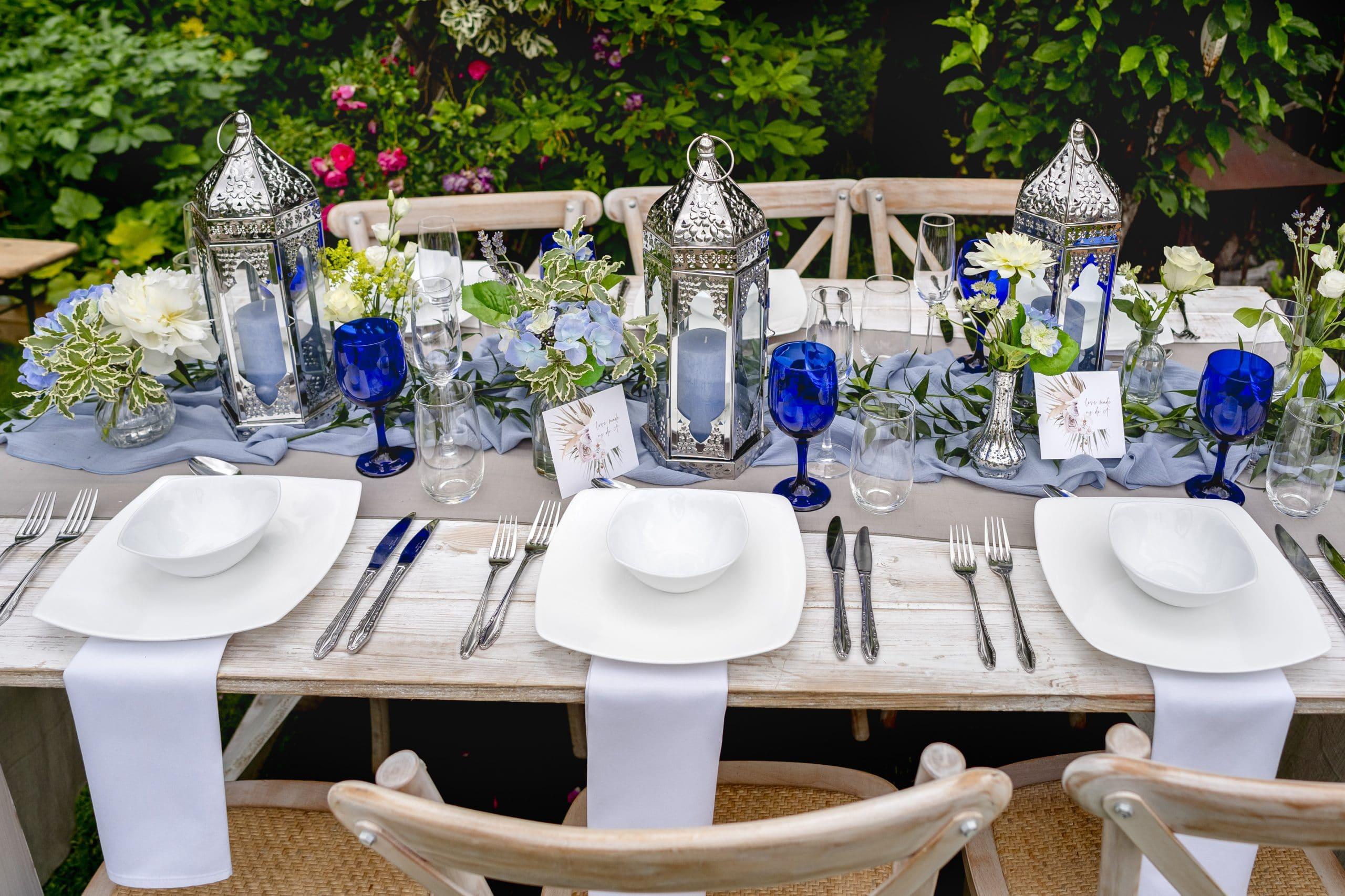 BLUE GOBLET SUMMER WEDDING